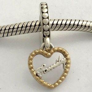 PANDORA Loving Family w/ 14K Gold Dangle Charm